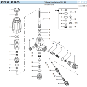 Kit Valvola Regolazione vhp 39 FDX pro