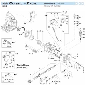 Ricambi gruppo pompa Comet KA Classic - Excel 2800