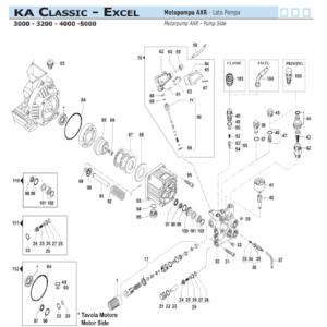 Ricambi gruppo pompa Comet KA Classic