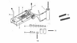 Kit carrello per estrazione ed introduzione boccole in acciaio, bronzine e SILENTBLOCK dalle balestre.