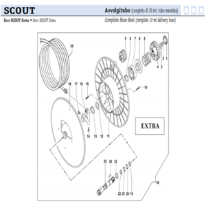 Comet Scout Extra avvolgitubo